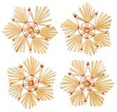 Snowflake Χριστουγέννων κρεμώντας παιχνίδια αχύρου, διακόσμηση χριστουγεννιάτικων δέντρων στοκ εικόνα με δικαίωμα ελεύθερης χρήσης