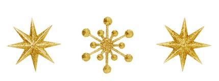 Snowflake Χριστουγέννων κρεμώντας παιχνίδια Χριστουγέννων διακοσμήσεων αστεριών Στοκ Εικόνες
