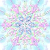 Snowflake Χριστουγέννων κυρτό ρόδινος-μπλε ανακούφισης απεικόνιση αποθεμάτων
