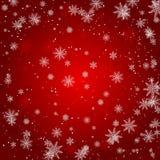 Snowflake Χριστουγέννων με το φως και την αφηρημένη διανυσματική απεικόνιση eps10 αστεριών νύχτας bakcground πτώσης χιονιού απεικόνιση αποθεμάτων