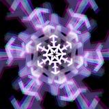 Snowflake Χριστουγέννων σημάδι με τις παρεκκλίσεις Στοκ φωτογραφία με δικαίωμα ελεύθερης χρήσης