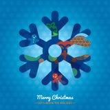 Snowflake Χριστουγέννων υπόβαθρο συμβόλων απεικόνιση αποθεμάτων