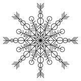 Snowflake χρωματίζοντας βιβλίο Στοκ Φωτογραφία