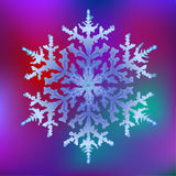 Snowflake 1. A close-up vector snowflake on a blurred background Stock Images