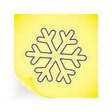 snowflake illustration stock