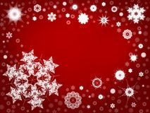 snowflake 104 ανασκόπησης Στοκ Εικόνα