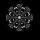 Snowflake. Isolated snowflake on black background Royalty Free Stock Image