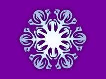 Snowflake. Ornamental white snowflake on violet vector illustration