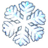Snowflake. Isolated snowflake on white background stock images