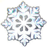 Snowflake. Isolated snowflake on white background royalty free stock photo