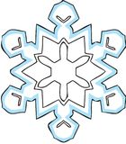 Snowflake. Hand drawn illustrator in blue and black royalty free illustration
