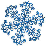 Snowflake. Complex snowflake with metal like surface - good solution for Christmas decorations Royalty Free Stock Photography