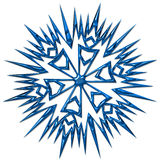 Snowflake. Complex snowflake with metal like surface - good solution for Christmas decorations Stock Photo