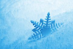 Snowflake. Blue background with snow and snowflake stock images