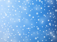 Snowflake. Blue and white background royalty free stock image