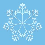 Snowflake. Seven-sided snowflake over blue background Royalty Free Stock Photography