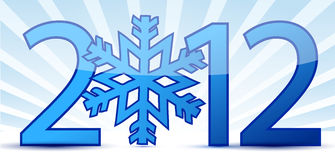 Snowflake 2012 text illustration Stock Photos