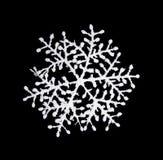Snowflake. White snowflake isolated om black Royalty Free Stock Photos
