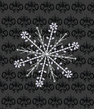 Snowflake. Made with diamonds and pearls Stock Photo