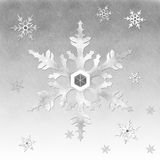 Snowflake. Abstract group of snow background Stock Photo