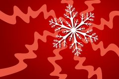 Snowflake. Vector illustration of snowflake decoration Royalty Free Stock Images