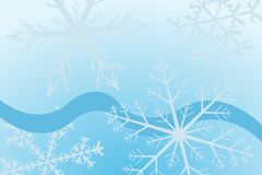 Snowflake. Vector illustration of snowflakes and curves Stock Photos