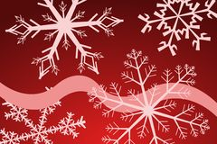 Snowflake. Vector illustration of snpwflakes and curves Royalty Free Stock Photo