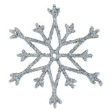 Snowflake. Photo on a white background stock photos