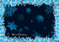 Snowflake 3d. Christmas snowflake background with 3d effect and room to add text royalty free illustration