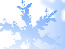 Snowflake. A blue illustrated background of a snowflake royalty free illustration