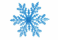 Snowflake. Isolated snowflake on white background royalty free stock photography