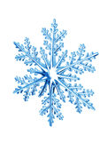 Snowflake. Isolated plastic snowflake on white background stock photography