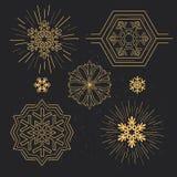 Snowflake σχέδια Στοκ Εικόνα