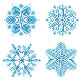 snowflake vektor illustrationer