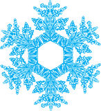 Snowflake. For New Year prints, web and decorate Stock Images