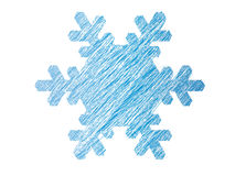 Snowflake. Abstract snowflake isolated on white background vector illustration Stock Illustration