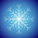 Snowflake. Made of snowflakes and sparks a snowflake Stock Image