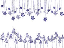 Snowflake. Blue snowflake on transparent background Royalty Free Stock Photo