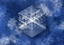 Snowflake. It is snowflake, winter background. My celebration art stock illustration