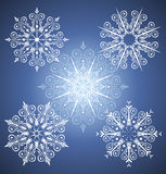 Snowflake. Icons and design elements about christmas Stock Photo