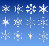 Snowflake. 12 shape of a snowflake Stock Image