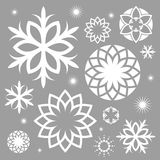 Snowflake. Abstract Christmas collection Royalty Free Stock Images