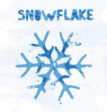 Snowflake abstract of colorful spots Royalty Free Stock Photo