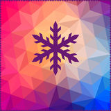 Snowflake. Abstract snowflake on geometric pattern. Snowflake si Royalty Free Stock Image
