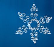 Snowflake applique with quilling Royalty Free Stock Images