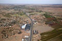 Snowflake, Arizona. Aerial view along State Route 77 and Snowflake, Arizona Stock Photos