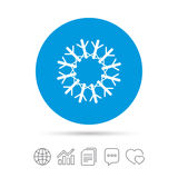 Snowflake artistic sign icon. Air conditioning. Royalty Free Stock Images