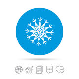 Snowflake artistic sign icon. Air conditioning. Stock Image