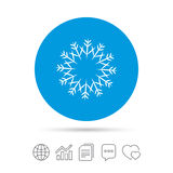 Snowflake artistic sign icon. Air conditioning. Stock Photography