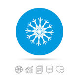 Snowflake artistic sign icon. Air conditioning. Royalty Free Stock Photos